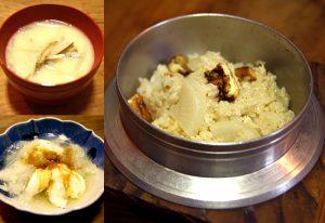 大根飯、大根の白みそ仕立て、みぞれ豆腐、その他
